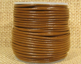 1.5mm Round Leather - Caramel - 142