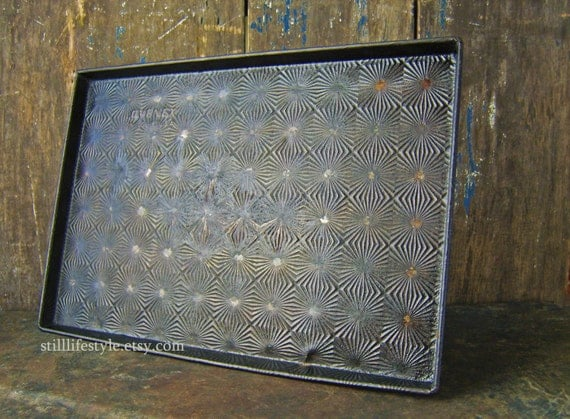 Vintage Ovenex Starburst Dark Baking Sheet Cookie Tray Sheet