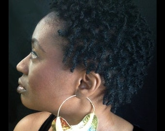 Jumbo Textured  Fulani Earrings