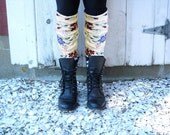 Upcycled Boot Socks Leg Warmers-One of a Kind