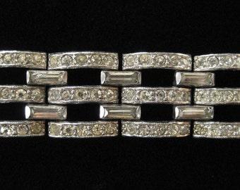 Art Deco Pot Metal Bracelet