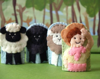 Little Bo Peep Finger Puppet Set
