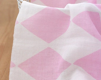 Lovely Pink Diamond on Double Washing Gauze 150cm WIDE, U118