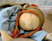 "Waldorf Doll - Kathy - 38cm/15"" -- An Original Olive Sparrow Child"