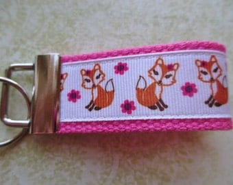 PINK Fox Mini Key Fob - Party Favor