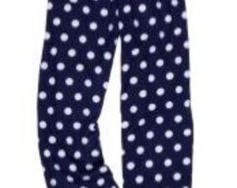Monogrammed pajama pants- Navy Dot - Girls - Monogrammed Lounge Pants