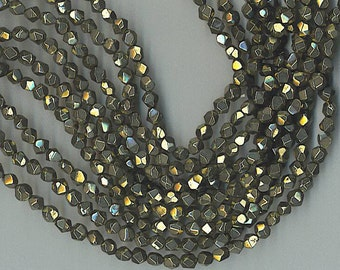 "16"" Strand 7mm Faceted Pyrite NUGGET Beads"