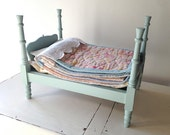 Heirloom 'Princess and the Pea' bed, for dolls.