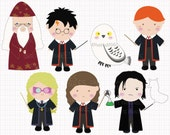 Film Inspired Harry Potter Digital CLIP ARTS personal and commercial use for invitations, cupcake toppers, party supplies