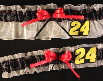 Jeff Gordon NASCAR Garter Set, Can Be Personalized