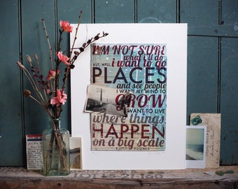 "Day 21 - 11""x14"" paper print - F. Scott Fitzgerald travel quote poster"