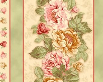 SALE, Quilting Treasures, Rendezvous, Rendezvous Floral Decorative Stripe, 1 yard bundle