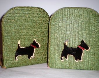 Scottie Dog Book Ends - Scotty Dog