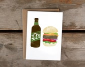 IPA + Burger A6 Card + Kraft Envelope