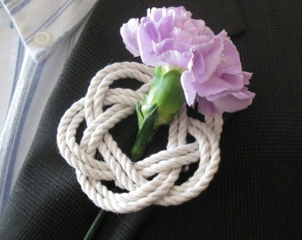 Nautical Sailor Knot Rope Boutonniere Corsage