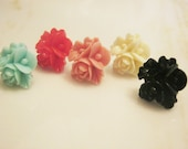 Flower Stud Earrings - Pick a Color
