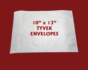 "10 Tyvek Envelopes. Ten Plain 10"" x 13"" Tyvek Mailers. 5222"