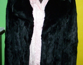 Full Length Women Fur and Leather Coat