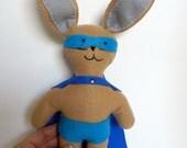 Bunny Super Hero - Boy's Stuffed Bunny - Easter