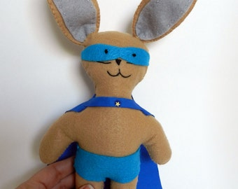 Bunny Super Hero - Boy's Stuffed Bunny - Easter