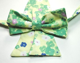 Mint Floral Bow Ties Mint Bow Tie Wedding Bow Ties Mens Bow Ties Floral Bow Ties Mint Bow Ties Custom Bow Ties