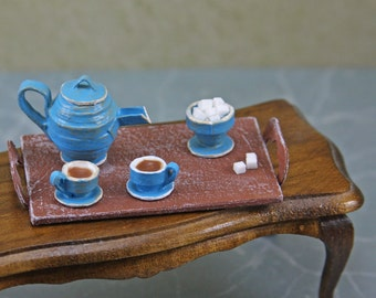 Doll House Miniature - Tea Sets with Tray