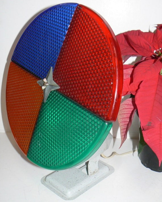 1950s Rotating 12 Color Wheel for Aluminum Christmas