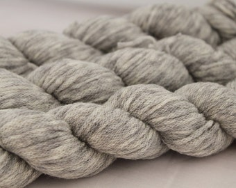 Variegated Gray and White Upcycled Wool Yarn, Sport Weight Yarn - 475 Yards