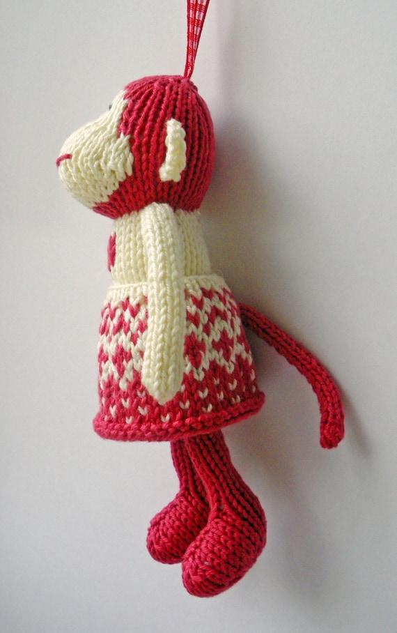 Knitting Patterns Mini Toys : Mini Monkeys Knitting Pattern, ornament / toy from ...