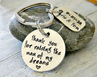 Personalized hand stamped key chain thank you mom