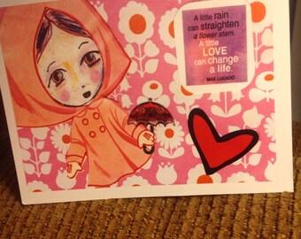 Handmade Greeting Card - Encouragement