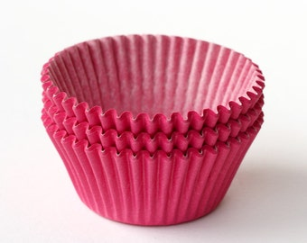Pink Cupcake Liners (50) Baby Shower Baking Cups, Pink Baking Cups, Pink Wedding Cupcake Liners