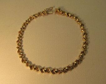14K Gold Bracelet X Links Italy