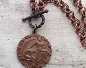 Zodiac Vintage Charm Copper Necklace Gemini