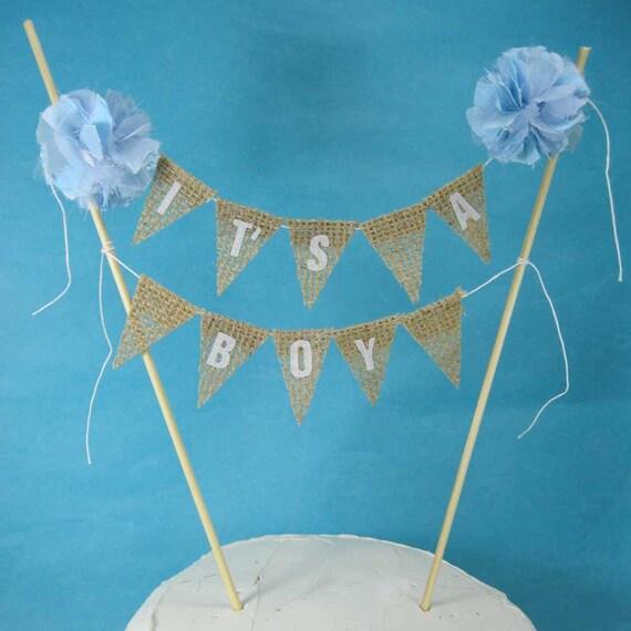 burlap boy shower cake bunting i231 baby shower its a boy baby