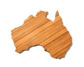 Australia Shaped Cutting Board 4th of july Gift Customized Cutting Board