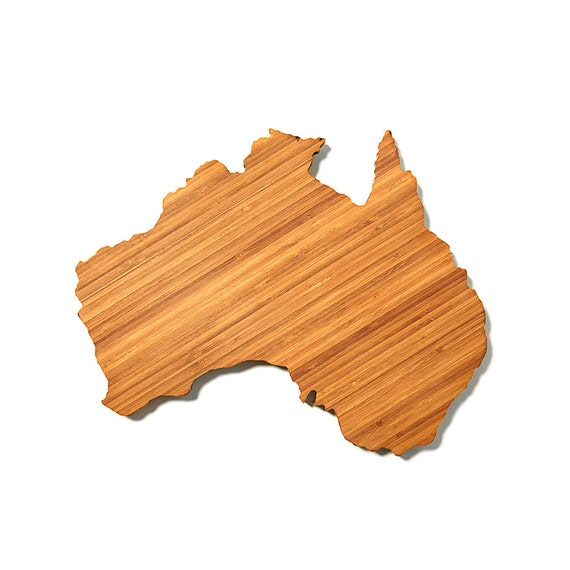 Australia Shaped Cutting Board 4th of july Gift Customized Cutting Board