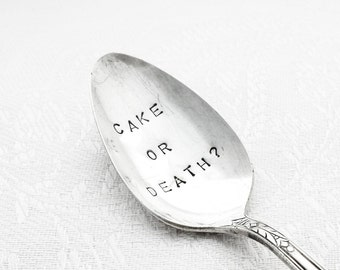 Vintage Hand stamped Spoon from GOOZEBERRY HILL - Cake or Death