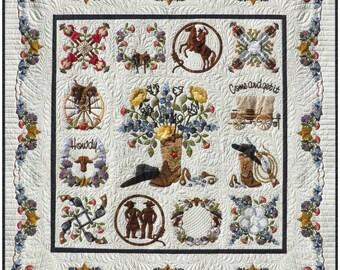 Happy Trails Cowboy Western Baltimore Album Applique 13 Quilt Pattern P3 Designs BOM