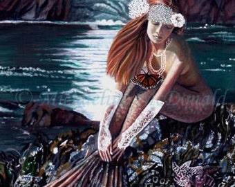 Mermaid Painting - mermaid art, mermaid print, mermaid poster, fantasy art, mythological creatures, mermaid gifts