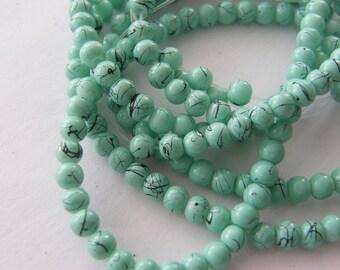 210 Turquoise mottled glass  B155