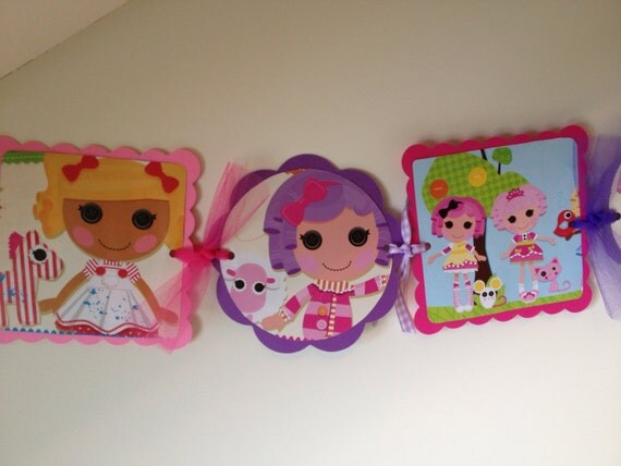 LALALOOPSY Birthday Party Banner/Room Decor By