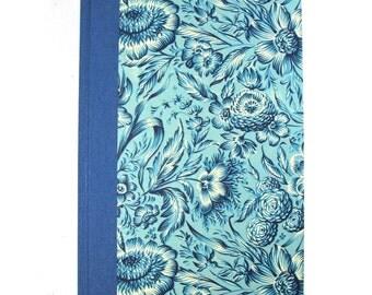 DIN A5 blank book, notebook journal, blue diary