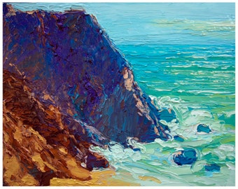 Californian Beach Open Edition Print - On One to California 8 X 10