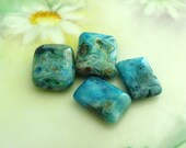 Store Wide Sale 2 Pairs of Blue Crazy Lace Agate Gemstone Beads Destash