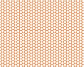 Honeycomb dots by Riley Blake Designs, Dots on Orange 1/2 yard