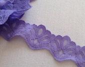 Vintage Stretch Lavender/Purple Lace Trim 3yrd bundle