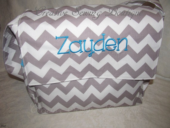 Items similar to messenger Chevron gray chevron zigzag ...