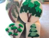 Set of 4 Tree Canes w/translucent background