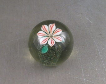 Antique hand Blown Glass Paperweight